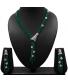 Emerald Green Beads long necklace set